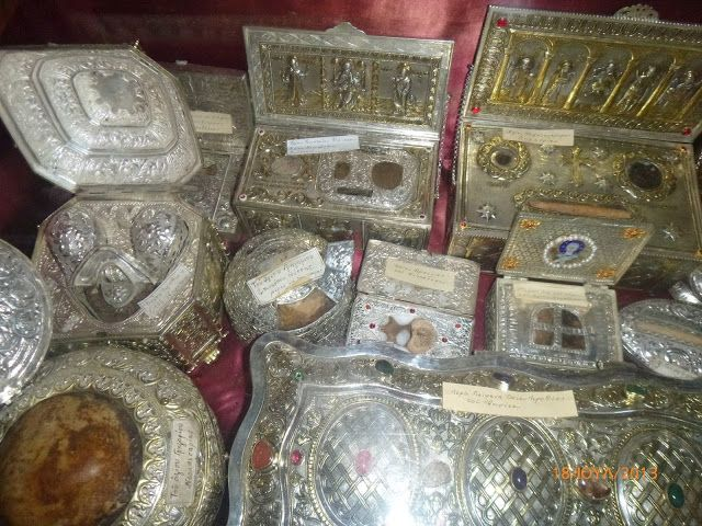 Relics from the Holy Monastery of Mount Athos Iberians