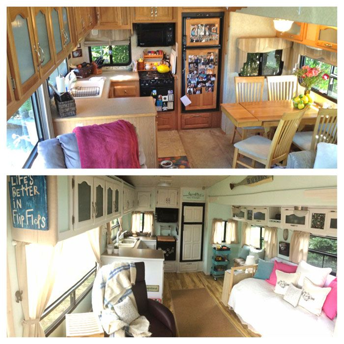 After years of loving use the interior looks of your RV can slip. Why not renovate? A full time couple took thier Forest River Cardinal 5th wheel....