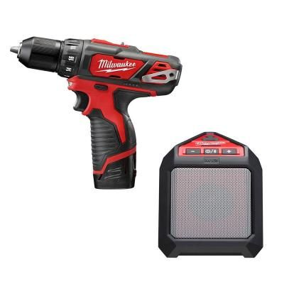 Milwaukee M12 Lithium-Ion 3/8 in. Drill/Driver Kit with Blue Tooth Speaker $99  - http://www.pinchingyourpennies.com/milwaukee-m12-lithium-ion-38-in-drilldriver-kit-with-blue-tooth-speaker-99/ #Drill, #Homedepot, #Specialbuyoftheday, #Tools