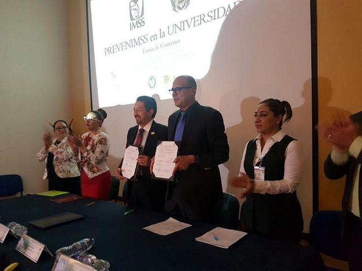 El IMSS y la UMSNH signaron un Convenio de Colaboración, en el que se sientan las bases de participación de ambas Instituciones para implementar acciones permanentes de auto cuidado ...