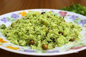 The aromas of my kitchenette : Kothamalli rice / Coriander rice