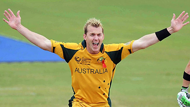 Australian fast bowler cricket player Brett Lee