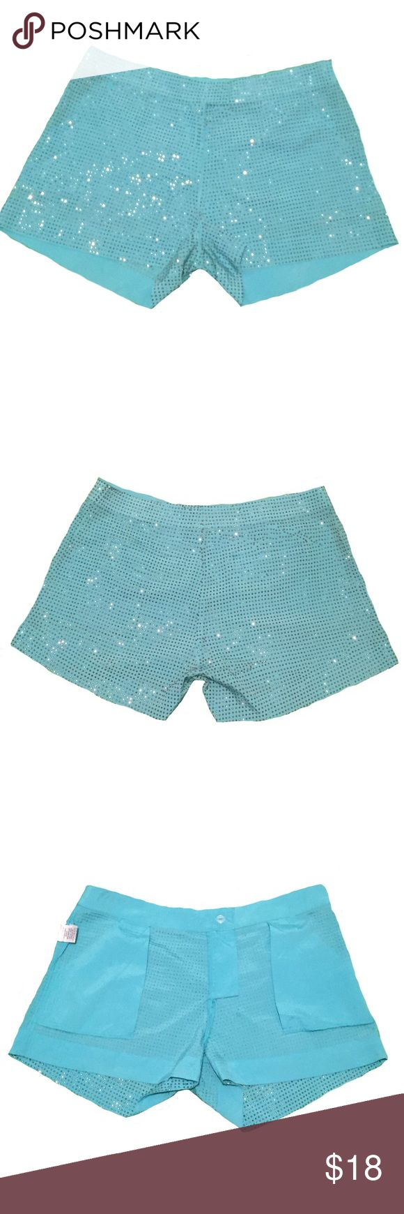 "NWOT Embellished Aqua Shorts Size M ✨Size Medium ✨16"" Hip to Hip Across Waistband ✨3"" Inseam ✨Unlined ✨Stud Embellishments ✨Hidden Hook, Button & Zip Closure ✨Slant Front Pockets  ✨Hidden Faux Back Pockets  💥Last two photos are close ups of embellishments. Shorts color are accurately depicted in first 4 photos💥 Shorts"