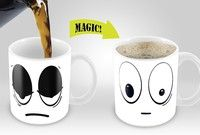 Amazing New Heat Sensitive Color Changing Coffee Mug You will now enjoy your morning cup of coffee