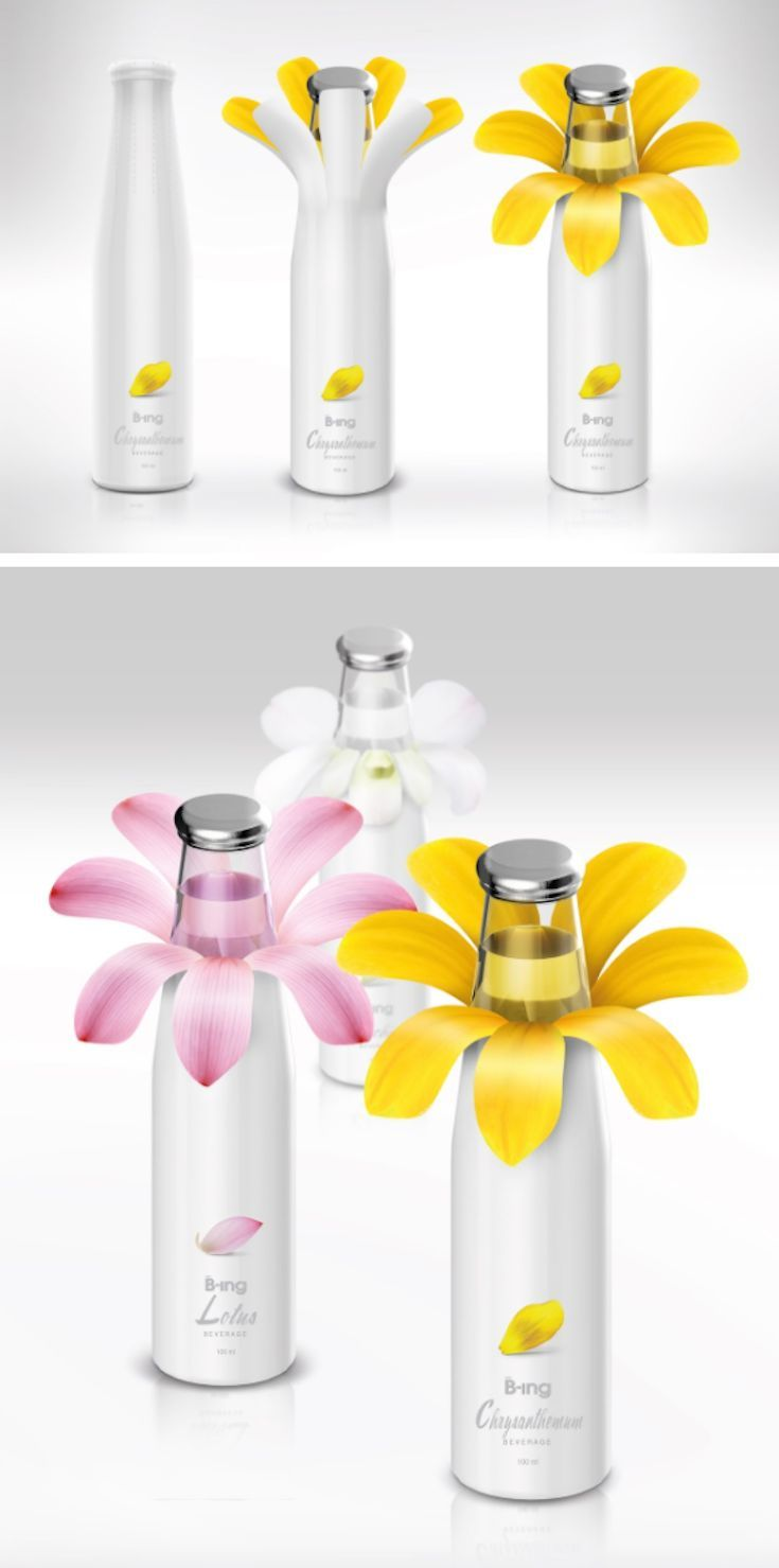 B-ing Flower Drink (Concept) packaging by Prompt Design