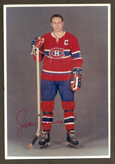 Autographed Photo by respected and great hockey player Jean Beliveau - #Habs #Hockey