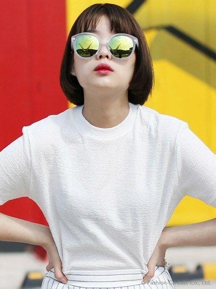 アイスー クリアフレームミラーサングラス: Ice cream framed mirror sunglasses on shopstyle.co.jp