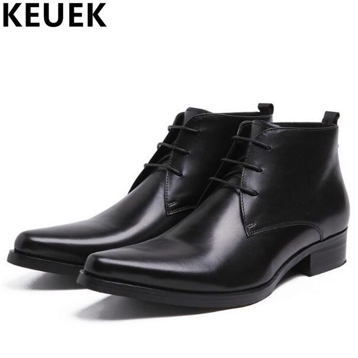 >> Click to Buy << Fashion Genuine leather Male Ankle boots Pointed toe Popular Motorcycle boots Men Leather Boots botas hombre shoes 03 #Affiliate