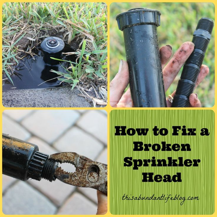 DIY sprinkler head repair tutorial with step by step pics.  Great info to stash away for when you need it!