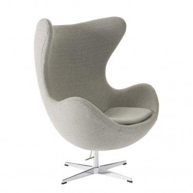 Replica arne jacobsen egg chair wool blend 649 nick for Egg chair replica leder