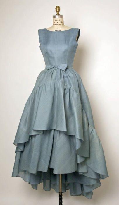 Cristobal Balenciaga dress ca. 1961 via The Costume Institute ...