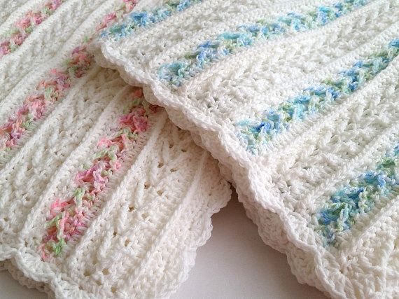Crochet Pattern Avalon Baby Blanket Baby by PeachtreeCottage