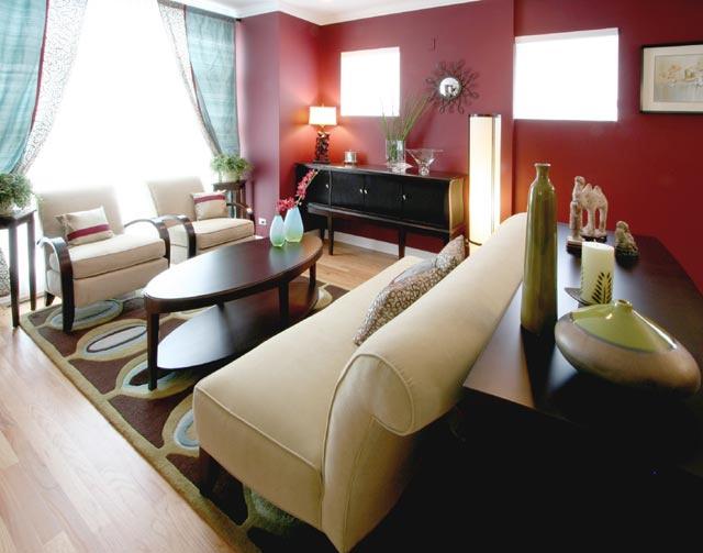 Angela Adams Wool Rug In Contemporary Interior Designed By Habitar