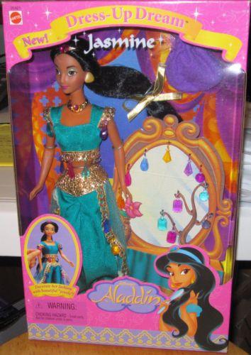 Disney Dress-Up Dream Jasmine doll from Aladdin Mattel 1998 New in Box!