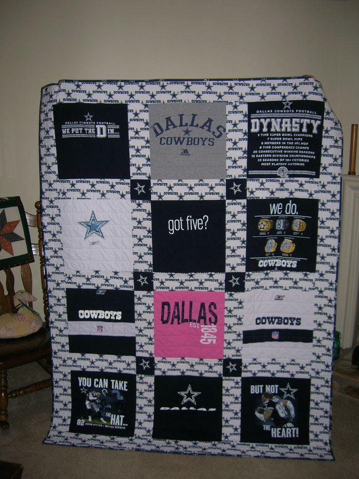 Dallas Cowboys T-Shirt Quilt