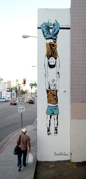 petitspetitstresors:    Street Art.Artist: Bumblebee    Happy New Year…!