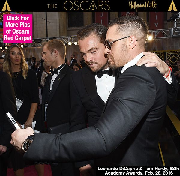 Tom Hardy's Oscar Selfie With Leonardo DiCaprio Is Hottest Pic Ever