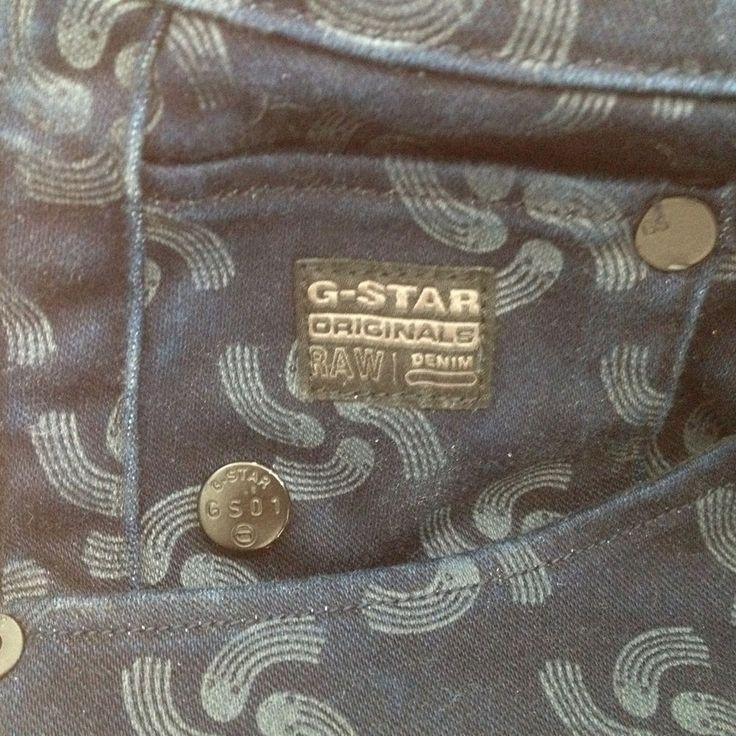 GSTAR Jeans DAMEN /HERRENblau raw for the oceans Gr.28/34 all over print quallen