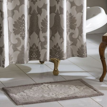 Croscill Verona Bath Rug The Features An Enlarged Damask Motif Intricately Detailed In Rich Earth Tones