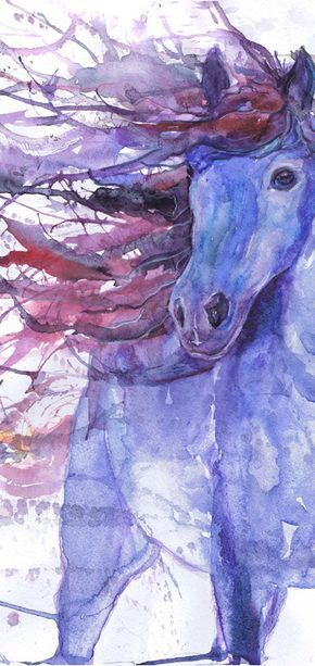 Horse art print, equestrian, equine, abstract horse painting, equine expressions, watercolor, horse lover, decor, wild horse gifts, dressage – Eleani Anagnostopoulou