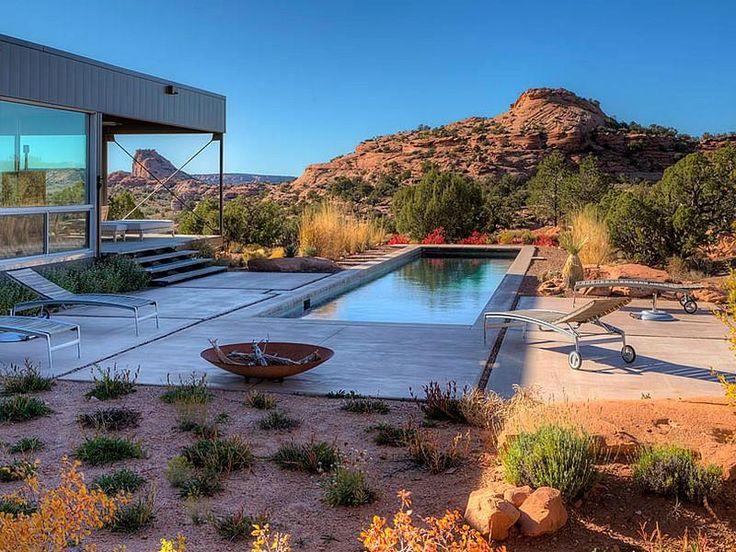 Pool: Natural landscape: Moab Marmol Radziner Prefab - pool