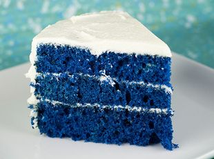 Blue Velvet Cake Recipe | Just A Pinch Recipes, put some yellow frosting on this for a U of M game day.