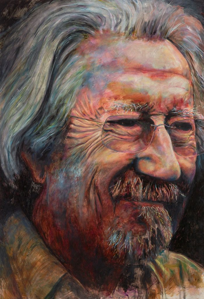 Michael Caton by Bruno Jean Grasswill, Archibald Prize 2015 finalist and winner of the Packing Room Prize