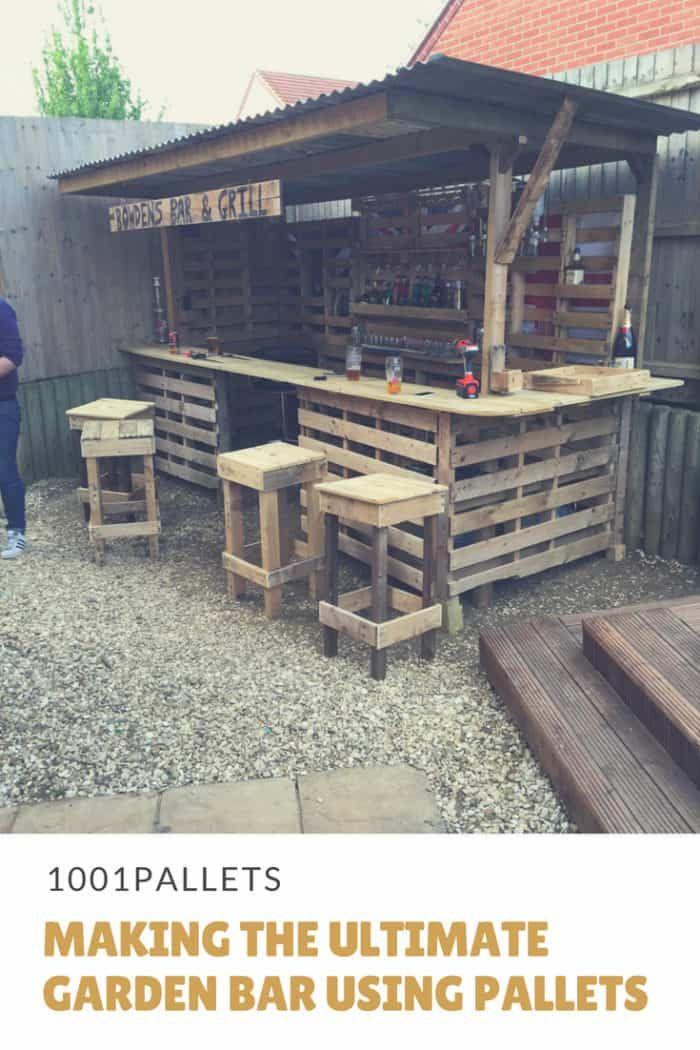 Making The Ultimate Garden Bar Using Pallets Diy Outdoor Bar