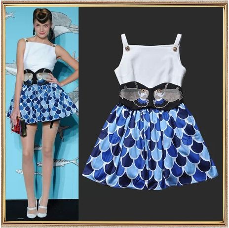 Fish Scale Printed Dress