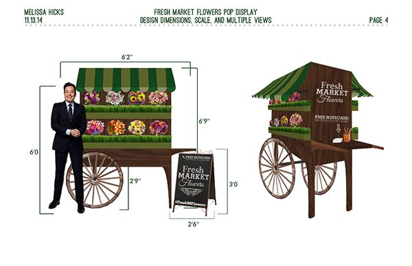 Fresh Market Flowers | Point of Purchase Display on Behance