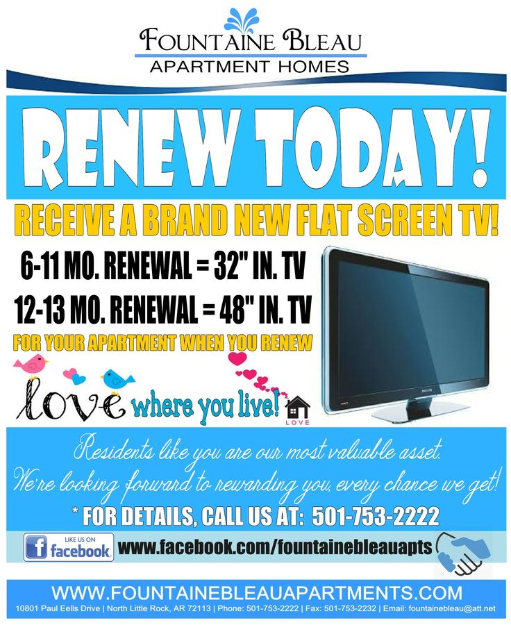 Lease renewal flyer i made for our residents bonnie rose apartment marketing ideas - Tips for a successful apartment investment ...