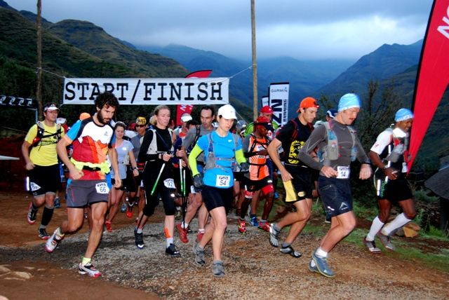 5 am start with 91 runners! Top athletes from RSA, Canada, USA and Spain