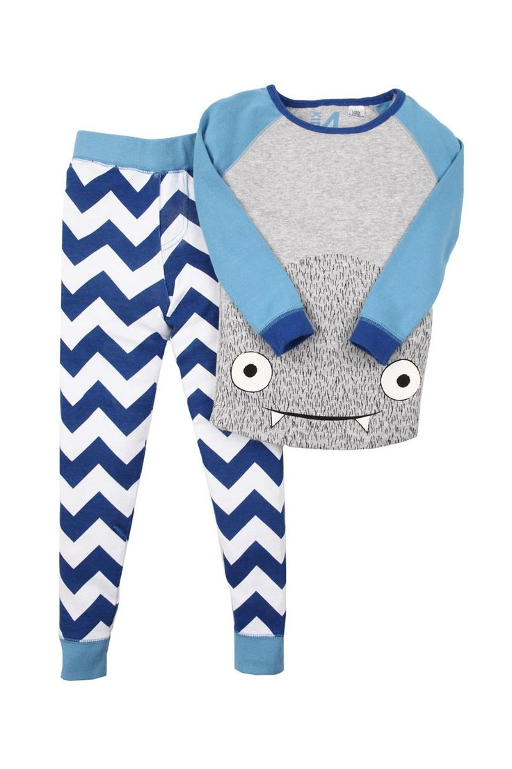 boys ls monster pj pajamas | Cotton On