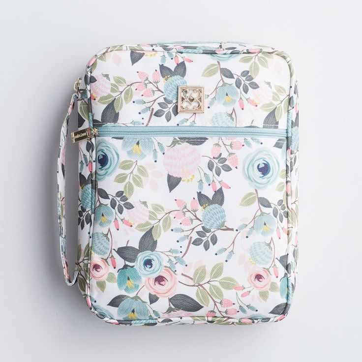 Floral Bible Case - Peach