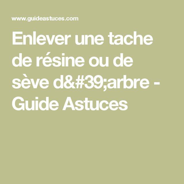 Enlever une tache de résine ou de sève d'arbre - Guide Astuces