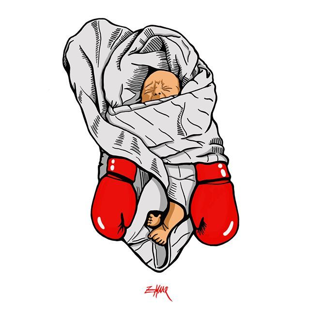 'a boy becomes a man'  See more at www.zoltanmaar.com  done with ProCreate on my Ipad Pro.     #boxing #instababy #sketch #draw #ipadpro #instaart #painting #digitalpainting #creative #procreate #art #artoftheday #sports #martialarts #instaartist #digitalart #illustration #drawing #arte #instagood #ko #knockout #babyboy #children #instakids #newborn #fighter #babies #graphic #illustrator REPOSTING with credit is allowed & encouraged.