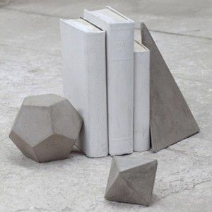 Concrete Shapes used as bookends