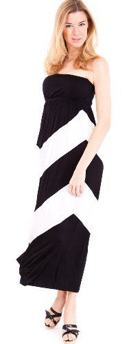 New Trending Formal Dresses: White Black Striped Contrast Ladies Sleeveless Bandeau Top Long Sun Dress. White Black Striped Contrast Ladies Sleeveless Bandeau Top Long Sun Dress  Special Offer: $12.00  266 Reviews Ladies Contrast Sun Dress. This sun dress features a long length, a striped pattern, a bandeau top that makes this dress the perfect outfit to wear on a sunny day. Colors...