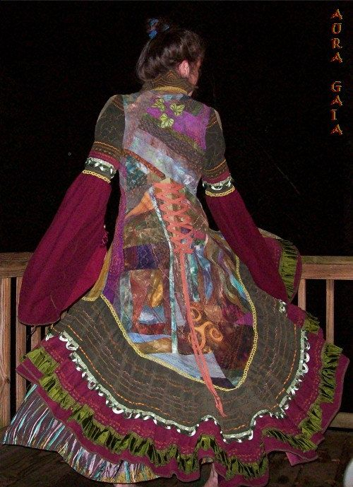 Forest Fae Fairy Coat  Queen of the Wood  Hand Dyed by AuraGaia, $1225.00
