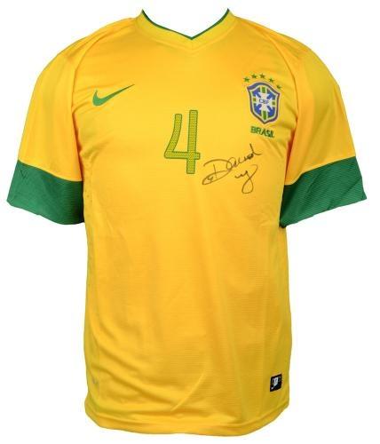 David Luiz Signed Brazilian National Team Jersey - Sports Memorabilia