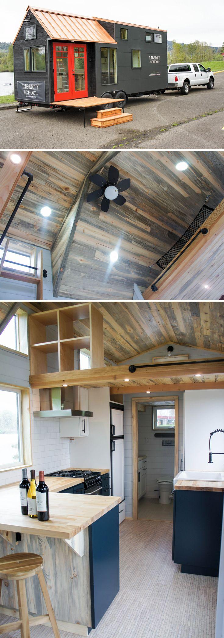 Bedroom tiny home plans on wheels furthermore romeo 500 sq ft log - Kootenay Wine Tasting Room By Truform Tiny