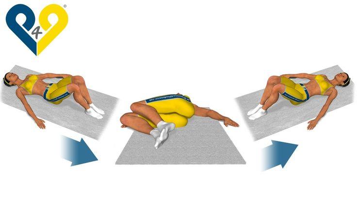 Alongamento lombar com rotação dos joelhos