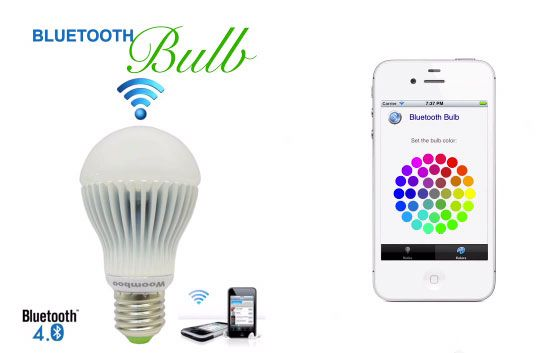 Bluetooth Bulb lets you switch on, time, dim and color your lighting with your phone
