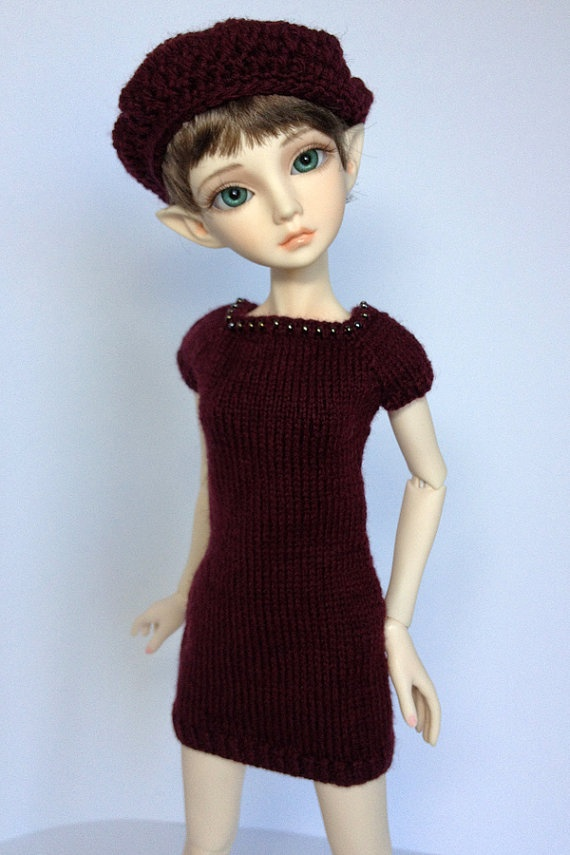 Knit Dress Outfit for Slim MSD BJD Ellowyne  by AdrianneInspired