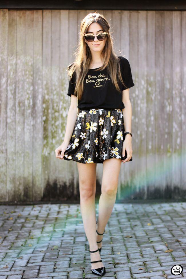 FashionCoolture - 12.06.2015 look du jour Le Motto black and gold outfit (1)