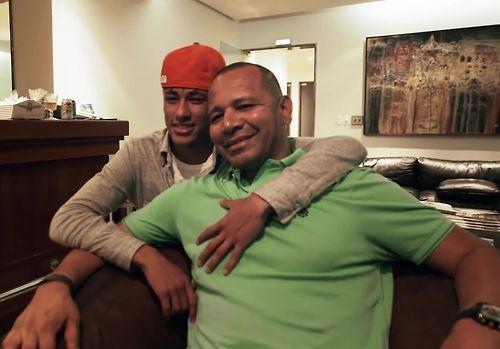 Neymar & his dad neymar sr.