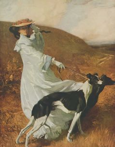 """""""Diana of the Uplands""""  Painting 1920  by Charles WELLINGTON FURSE"""