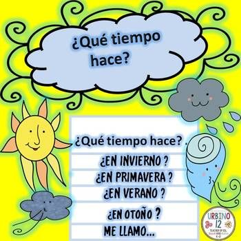 A project designed for the students to explore the seasons and weather in Spanish. Students will create their own weather flipbook demonstrating knowledge of previously learned weather and seasons vocabulary. Resource includes: - directions for creating the flipbook - a grading rubric
