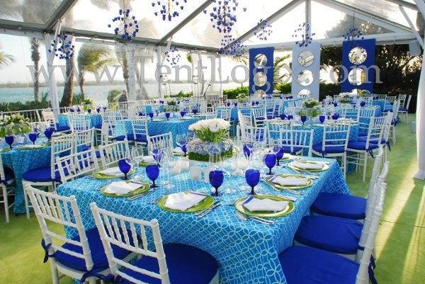 #Chartreuse and #Blue #Wedding See More at http://partymotif.com #Green