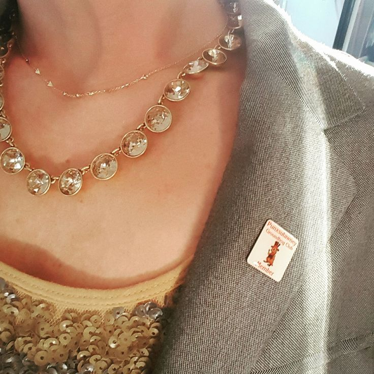 Yep...I am a Punxsutawney Groundhog Club Member! My pin pairs well with the Celestial Choker and Astor Sparkle Necklace from Stell and Dot! Happy Groundhog Day! http://www.stelladot.com/sites/AMK